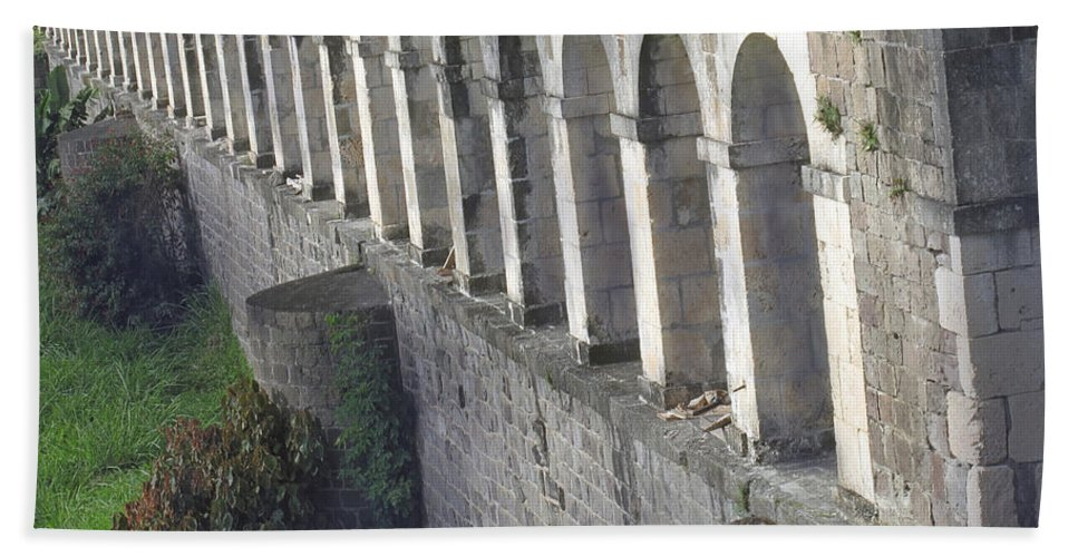 Brimstone Bath Sheet featuring the photograph Stone Arches And Shadows by Ian MacDonald