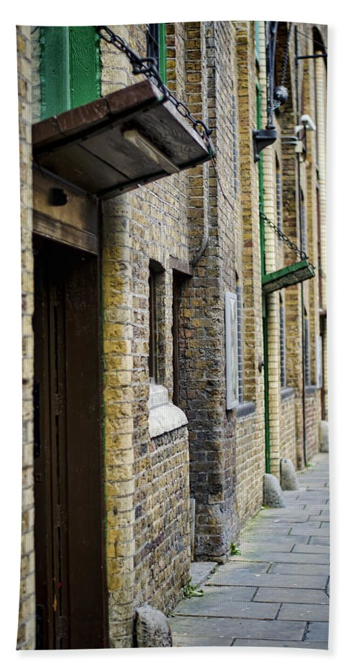 London Hand Towel featuring the photograph Stoney Street by Heather Applegate