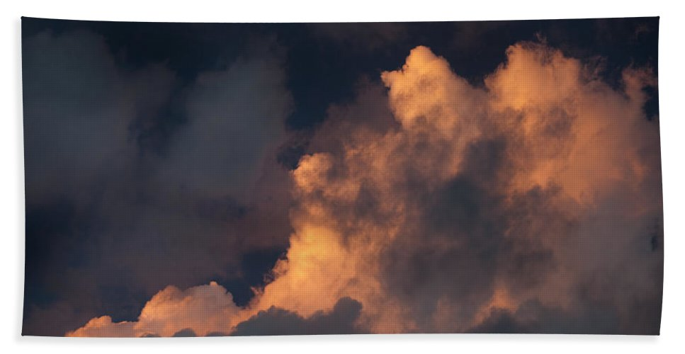Cloud Bath Sheet featuring the photograph Storm Cloud Highlighted By Sun by Artur Bogacki