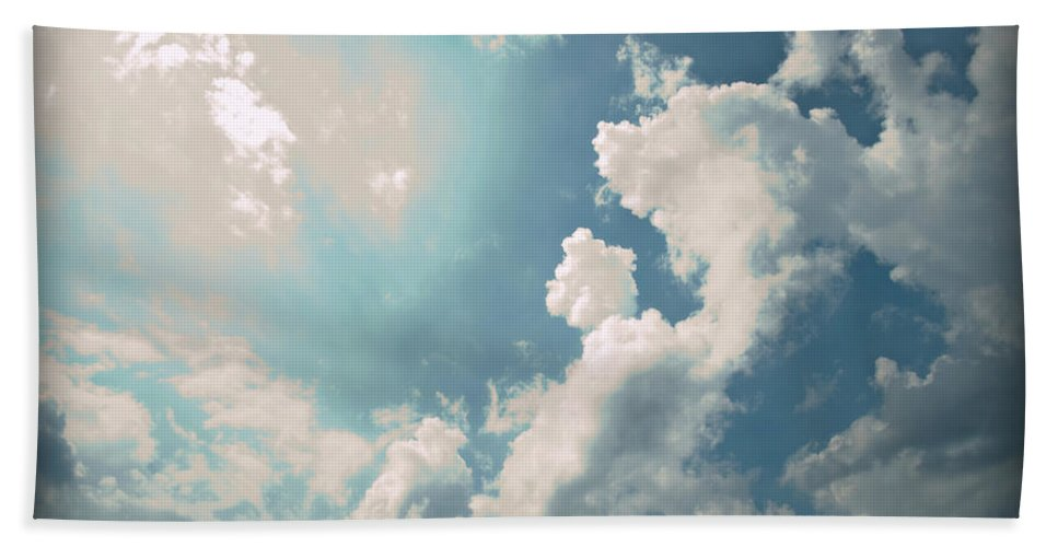 Nature Bath Sheet featuring the photograph Storm Clouds - 1 by Paulette B Wright