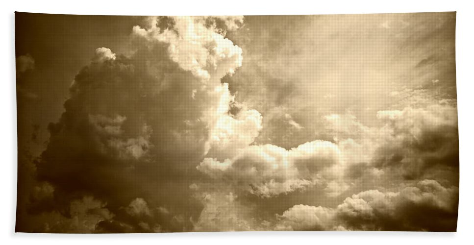 Nature Bath Sheet featuring the photograph Storm Clouds - 5 by Paulette B Wright