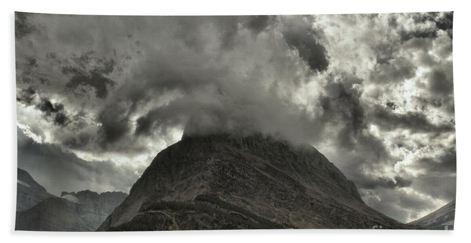 Grinnell Point Hand Towel featuring the photograph Storm Over Grinnell by Adam Jewell