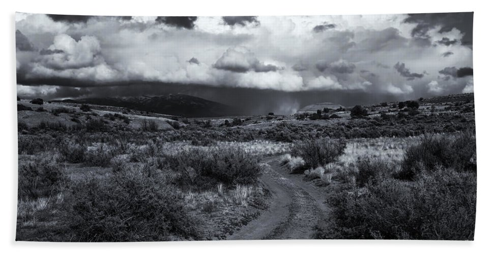 Country Bath Sheet featuring the photograph Storm Track by Mike Dawson
