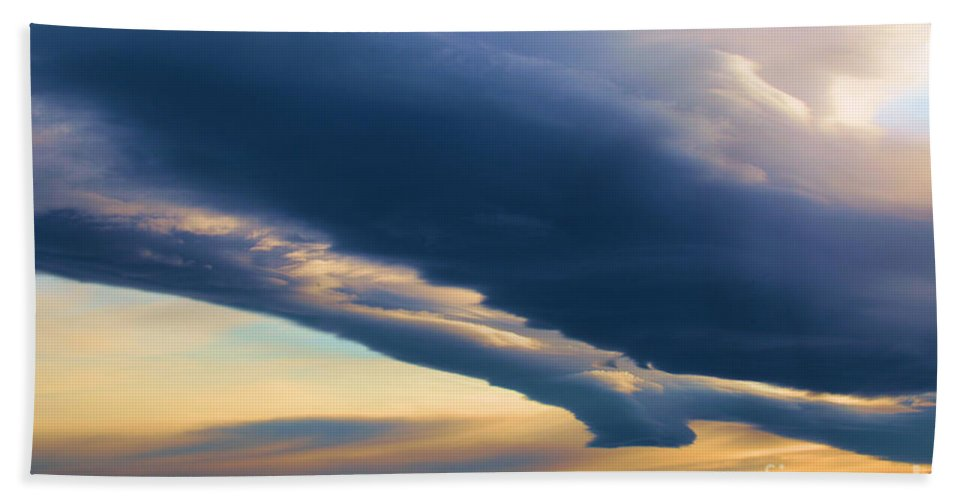 Mt Shasta Hand Towel featuring the photograph Storms Over Shasta by Adam Jewell