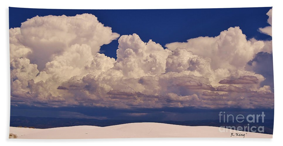 Roena King Bath Sheet featuring the photograph Storms Over The Mountains by Roena King