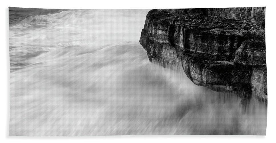 Sea Bath Sheet featuring the photograph Stormy Sea 1 by Pedro Cardona Llambias