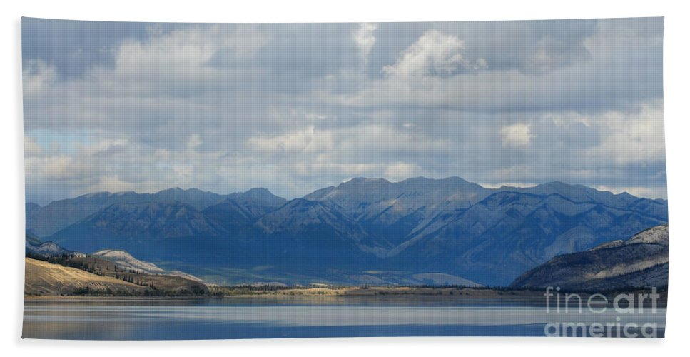Mountains Hand Towel featuring the photograph Stormy Skies In Jasper by Vivian Christopher