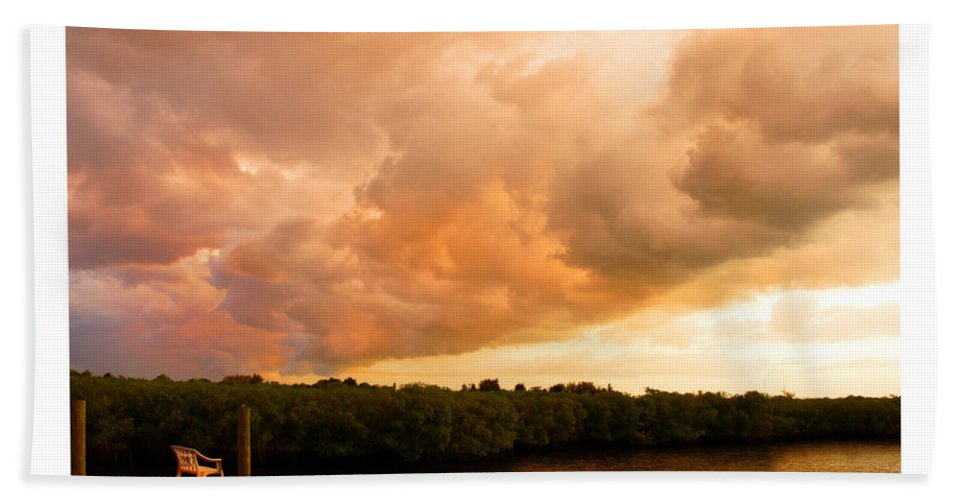 Sundowner Hand Towel featuring the photograph Stormy Sundowner by Mal Bray