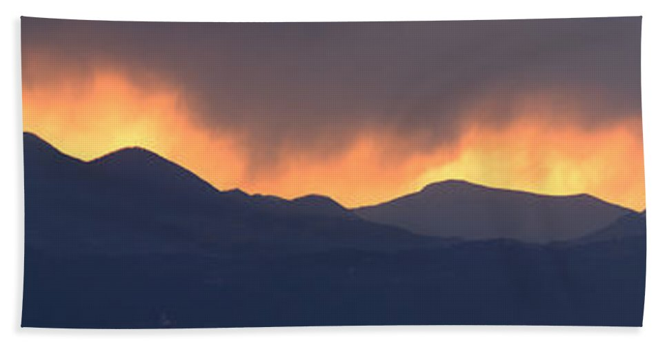 Sunset Hand Towel featuring the photograph Stormy Sunset by Ian Middleton