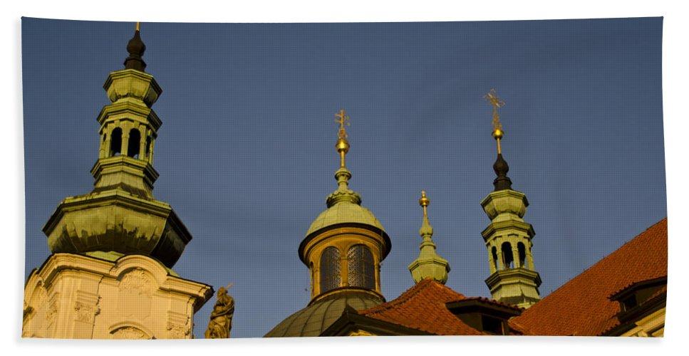 Strahov Monastery Bath Sheet featuring the photograph Strahov Monastery - Prague Czech Republic by Jon Berghoff