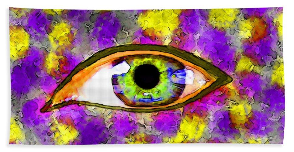 People Bath Sheet featuring the digital art Strange Eye II by Debbie Portwood