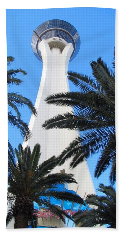 Stratosphere Hand Towel featuring the photograph Stratosphere by Art Dingo