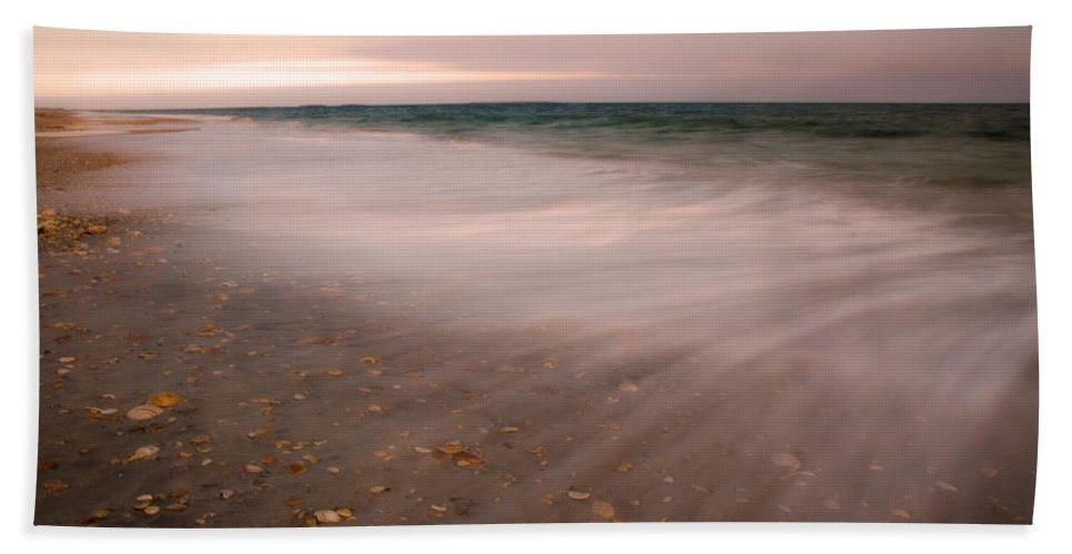 Beach Hand Towel featuring the photograph Stretching Tides by Betsy Knapp