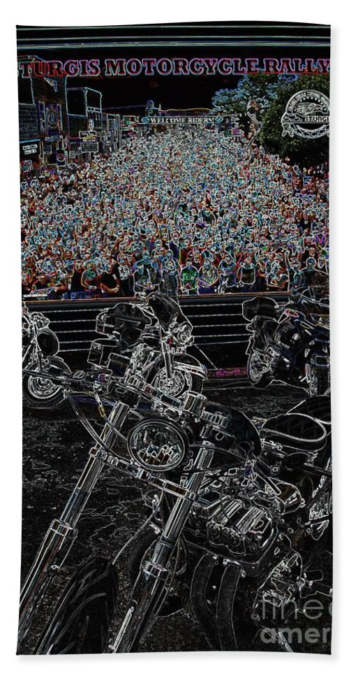 Motorcycle Bath Sheet featuring the photograph Stugis Motorcycle Rally by Anthony Wilkening