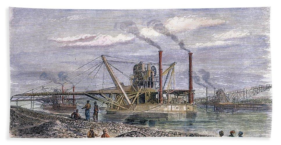 1869 Bath Sheet featuring the photograph Suez Canal Construction by Granger