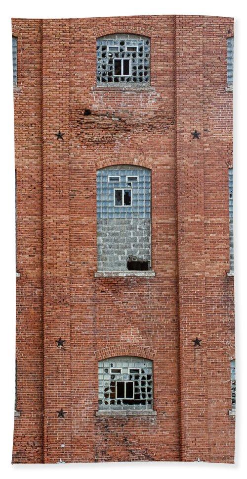 Disrepair Bath Sheet featuring the photograph Sugar Mill Broken Windows by James BO Insogna