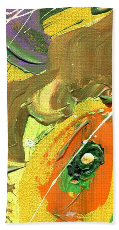 Green Bath Sheet featuring the painting Summer Bliss II by Angela L Walker