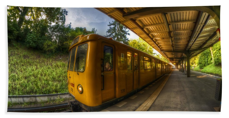 Airport Bath Sheet featuring the photograph Summer Eveing Train. by Nathan Wright