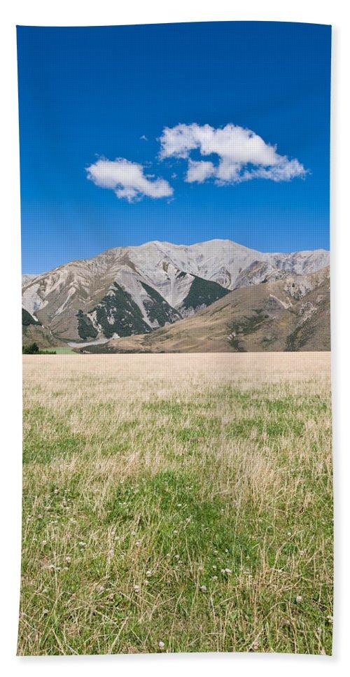 Air Bath Sheet featuring the photograph Summer Landscape Blue Sky by U Schade