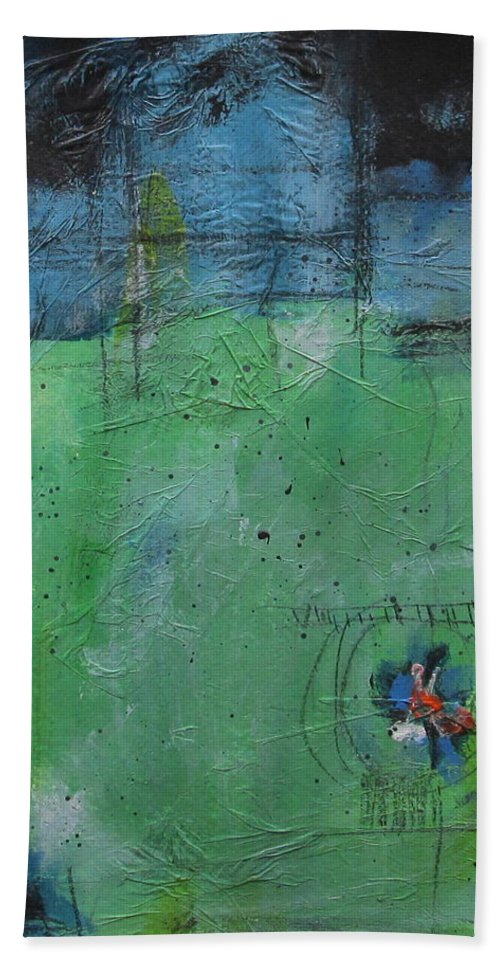 Abstract Painting Bath Sheet featuring the painting Summer by Nicole Nadeau