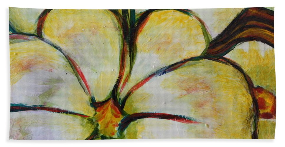 Vegetable Bath Sheet featuring the painting Summer Squash by Gitta Brewster