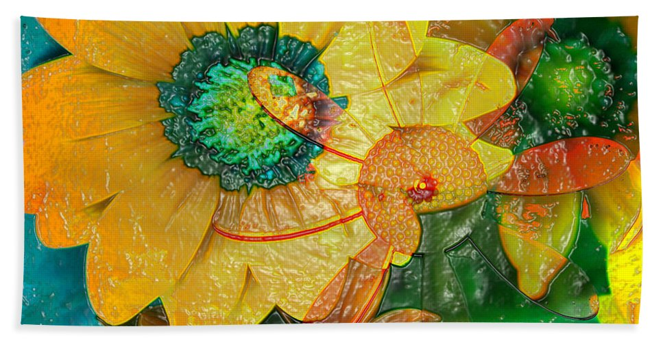 Jerry Cordeiro Bath Sheet featuring the photograph Summers Soup by The Artist Project