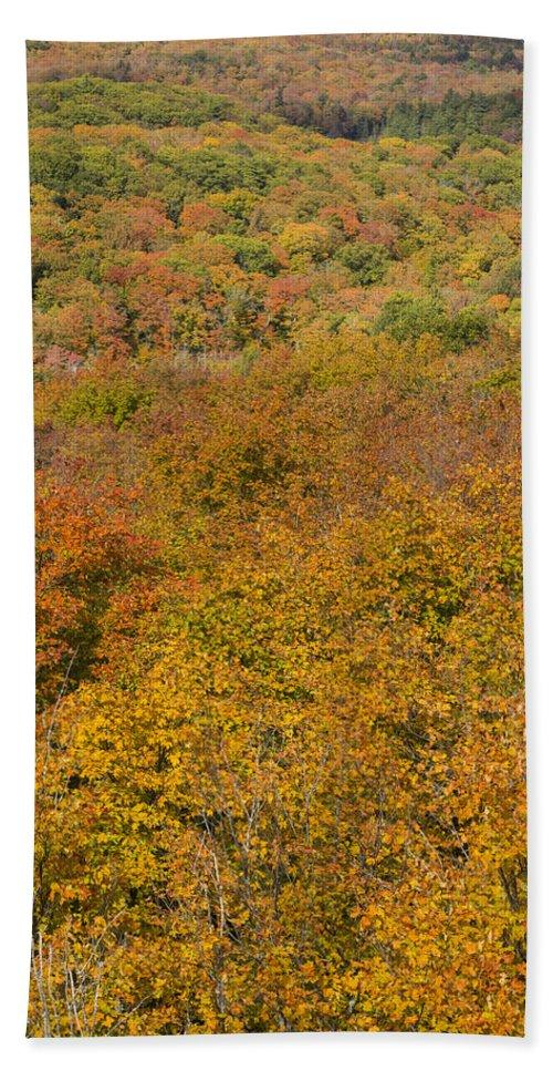 Summit Hand Towel featuring the photograph Summit Peak Autumn 15 by John Brueske