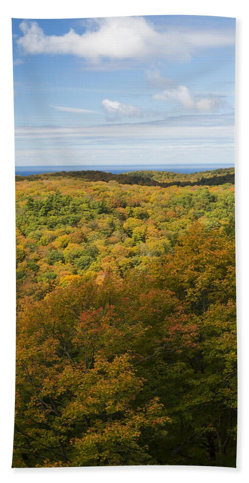 Summit Hand Towel featuring the photograph Summit Peak Autumn 4 by John Brueske
