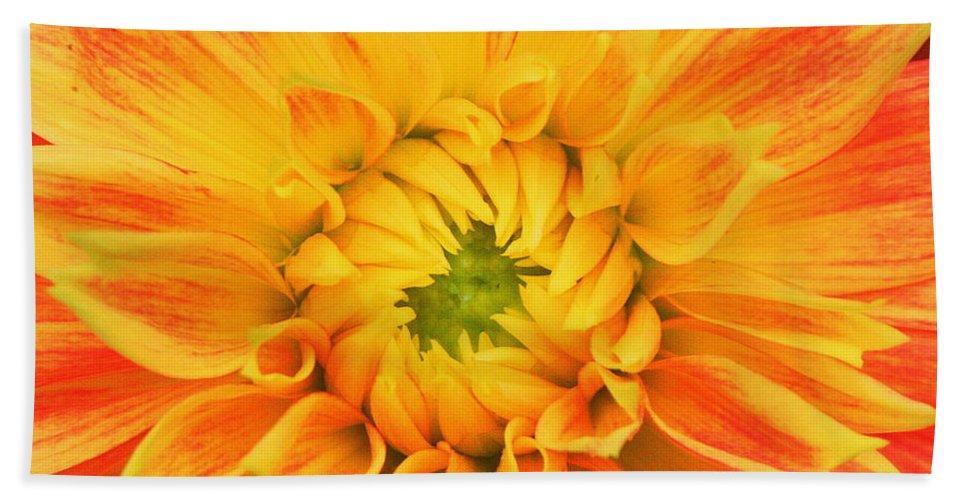 Orange Flower Bath Sheet featuring the photograph Sun Burst by Matthew Wilson
