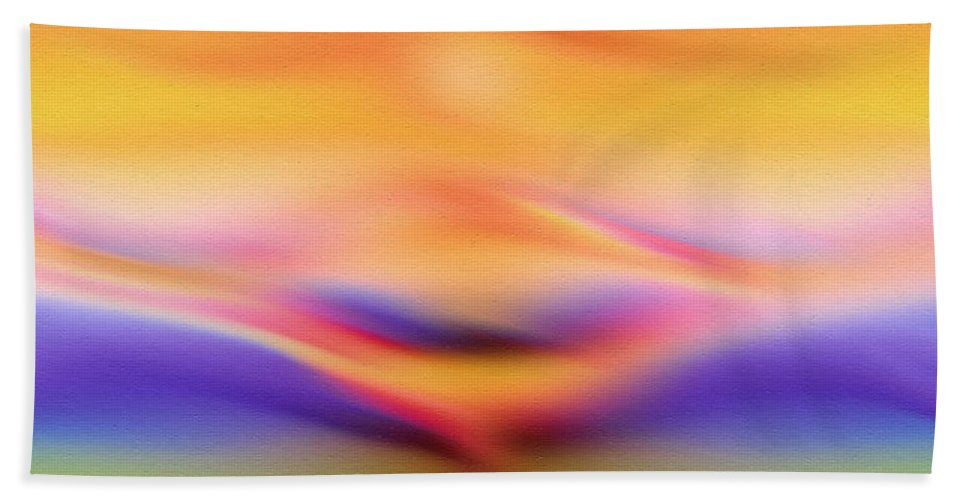 Abstract Bath Sheet featuring the painting Sun Kissed by Georgiana Romanovna