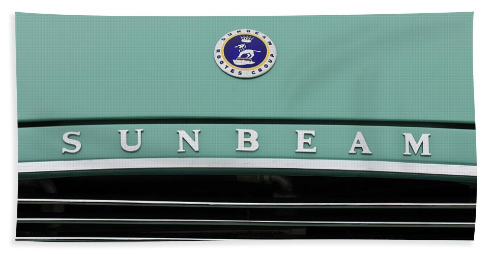 Sunbeam Rootes Group Bath Sheet featuring the photograph Sunbeam Rootes Group Vintage Car by Jill Reger