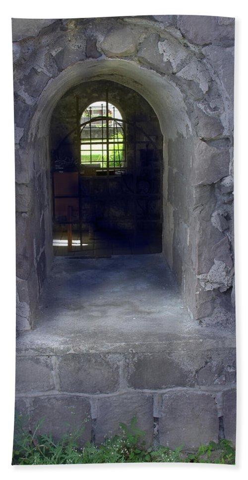 Stone Bath Sheet featuring the photograph Sunbeam Stone And Shadows by Ian MacDonald