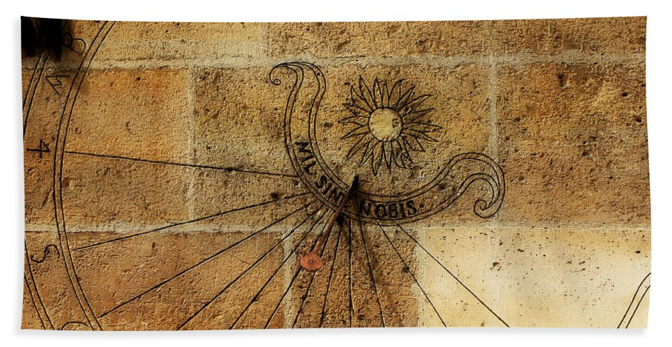 Paris Bath Sheet featuring the photograph Sundial 1 by Andrew Fare