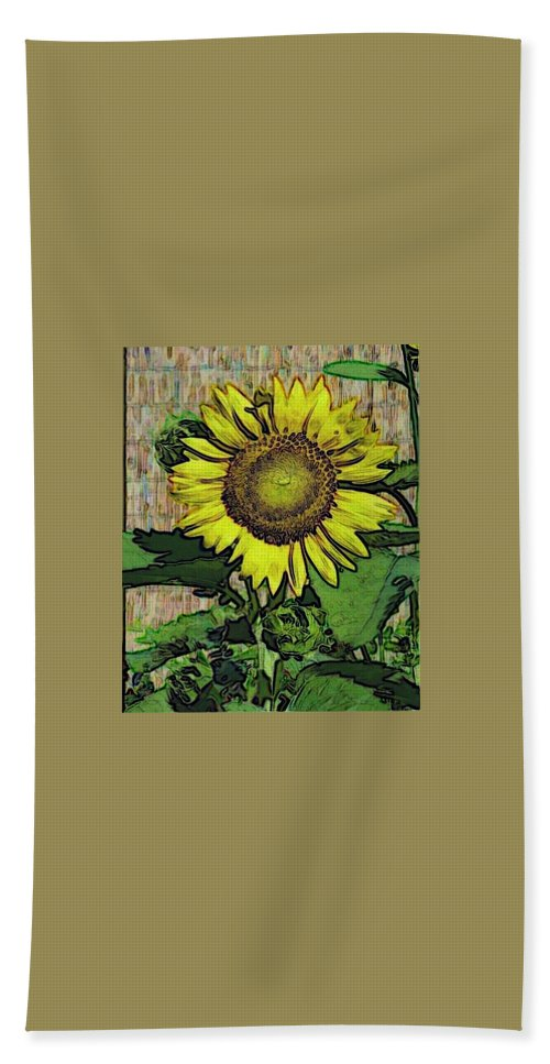 Sunflower Bath Sheet featuring the photograph Sunflower Face by Alec Drake