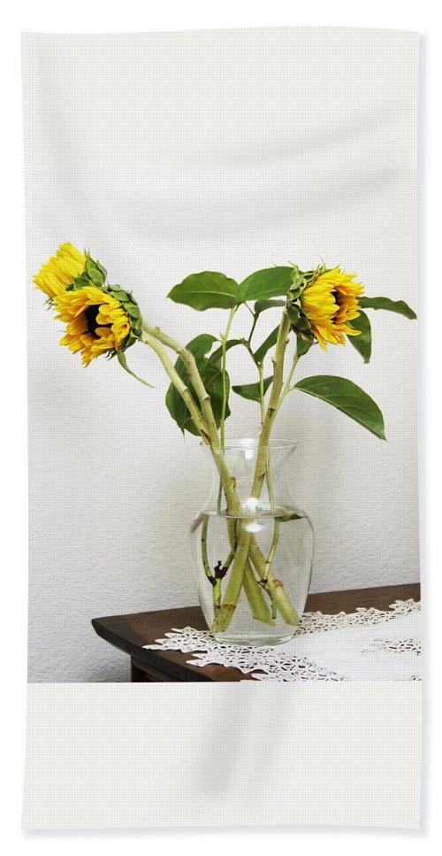 Sunflower Bath Sheet featuring the photograph Sunflowers by Masha Batkova