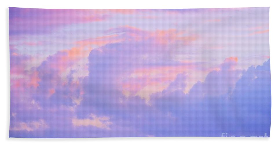 Sunrise Bath Sheet featuring the photograph Sunrise In Pastels by Maria Urso