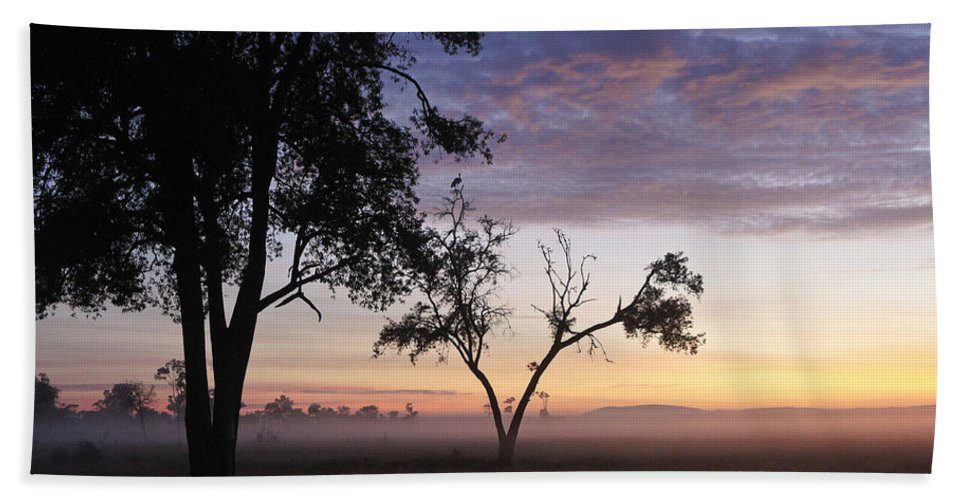 Africa Bath Sheet featuring the photograph Sunrise On The Masai Mara by Michele Burgess