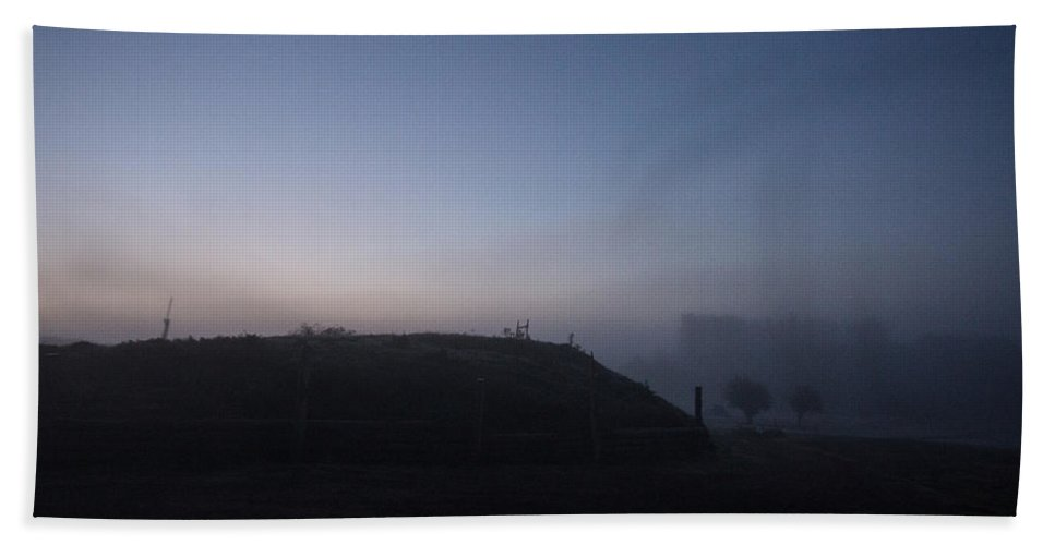 Sunrise Hand Towel featuring the photograph Sunrise Over The Hill by Dawn OConnor