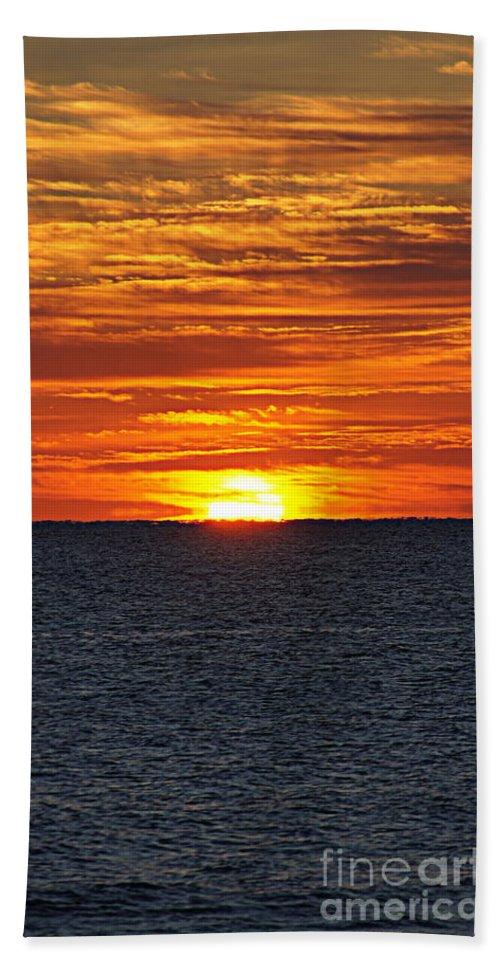 Sunrise Bath Sheet featuring the photograph Sunrise by Paul Wilford