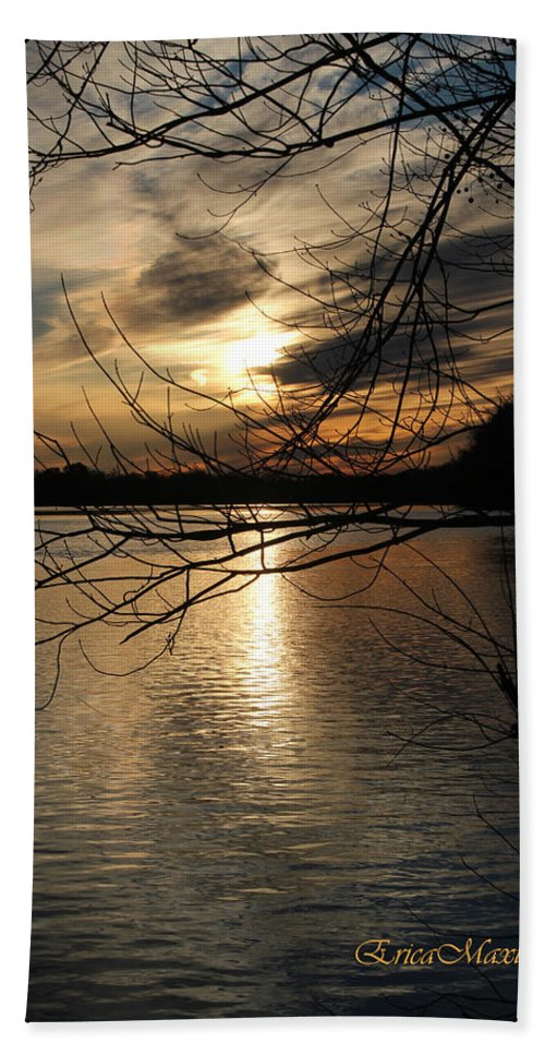Tn Bath Sheet featuring the photograph Sunset At The Lake by Ericamaxine Price