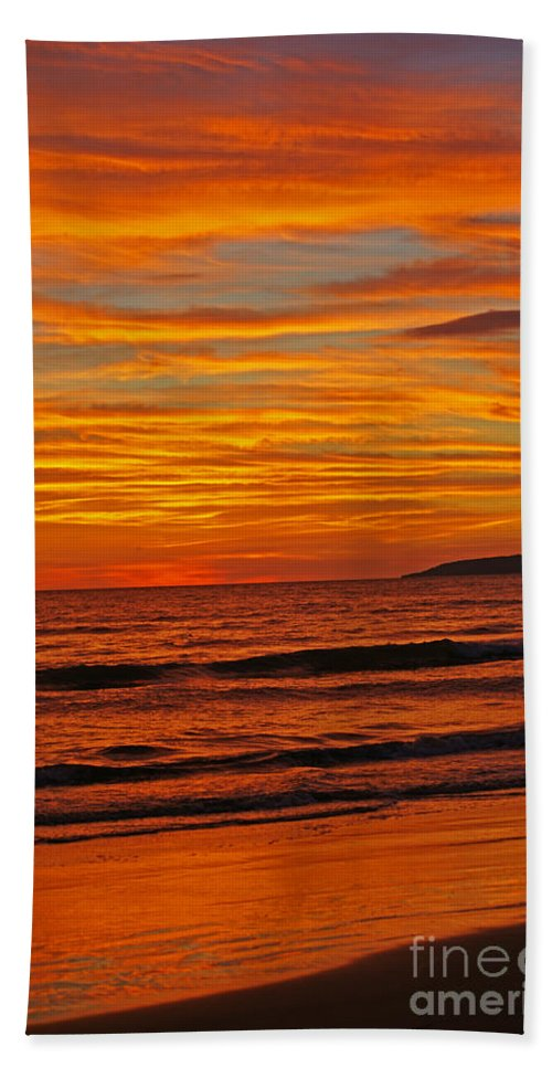 Mexico Bath Sheet featuring the photograph Sunset Colours by Randy Harris