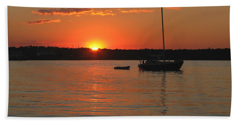 Sunset Bath Sheet featuring the photograph Sunset Cove by Clara Sue Beym