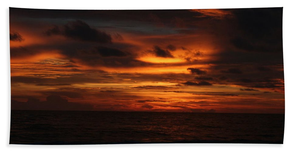 Sunset Bath Sheet featuring the photograph Sunset In Naples by Shannon Tibbetts