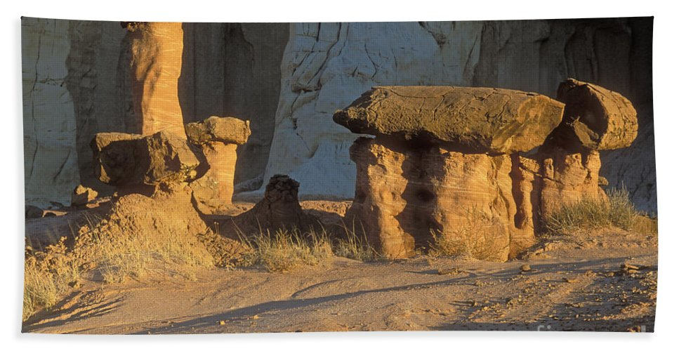 Bronstein Hand Towel featuring the photograph Sunset In Paria Canyon Wilderness by Sandra Bronstein