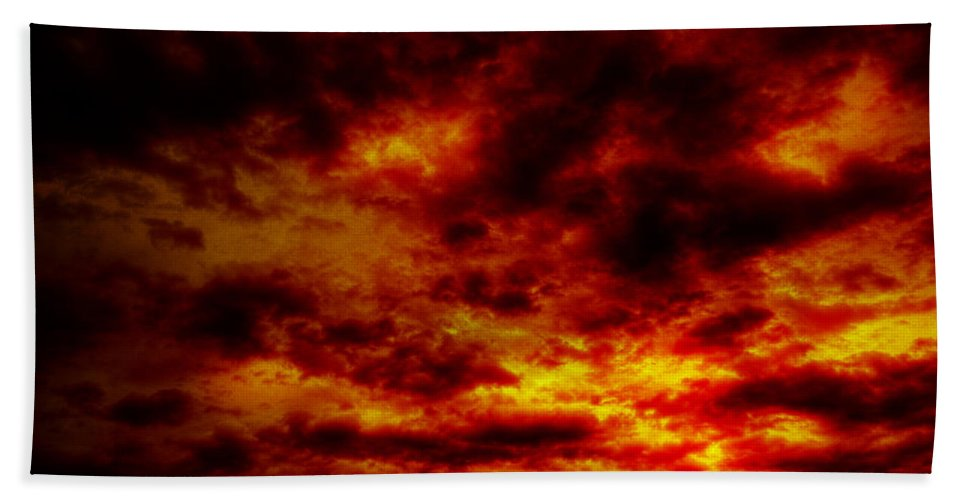 Acrylic Prints Hand Towel featuring the photograph Sunset by John Herzog