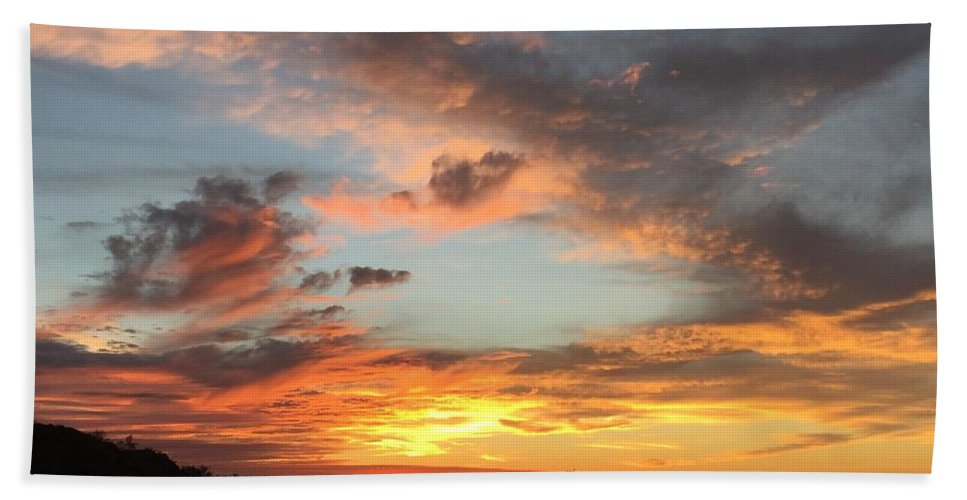Sunset Bath Sheet featuring the photograph Sunset by Marlene Challis