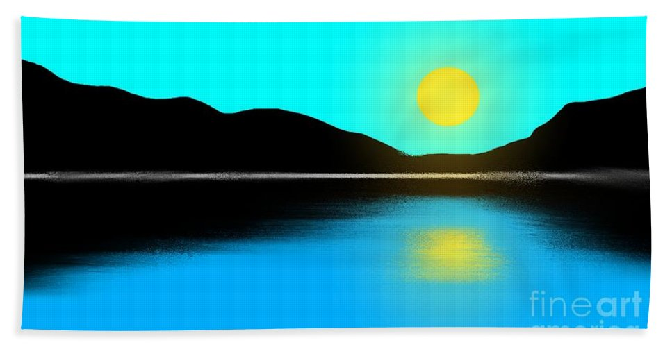 Sunset Hand Towel featuring the painting Sunset No. 2 by George Pedro