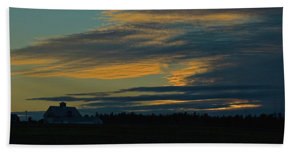 sunset On The Old Canadian Highway Hand Towel featuring the photograph Sunset On The Old Canadian Highway by Paul Mangold
