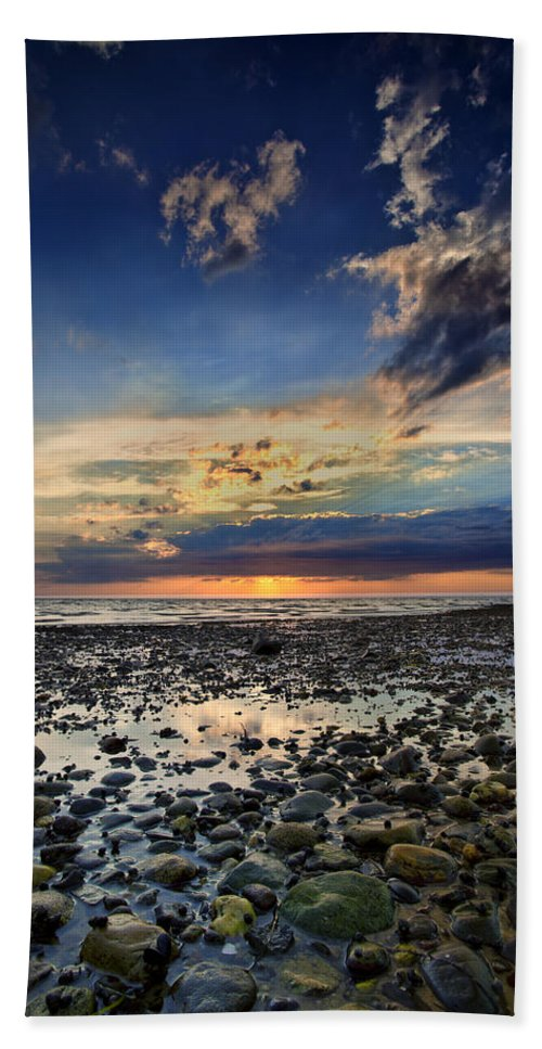 Bound Brook Island Bath Sheet featuring the photograph Sunset Over Bound Brook Island by Rick Berk