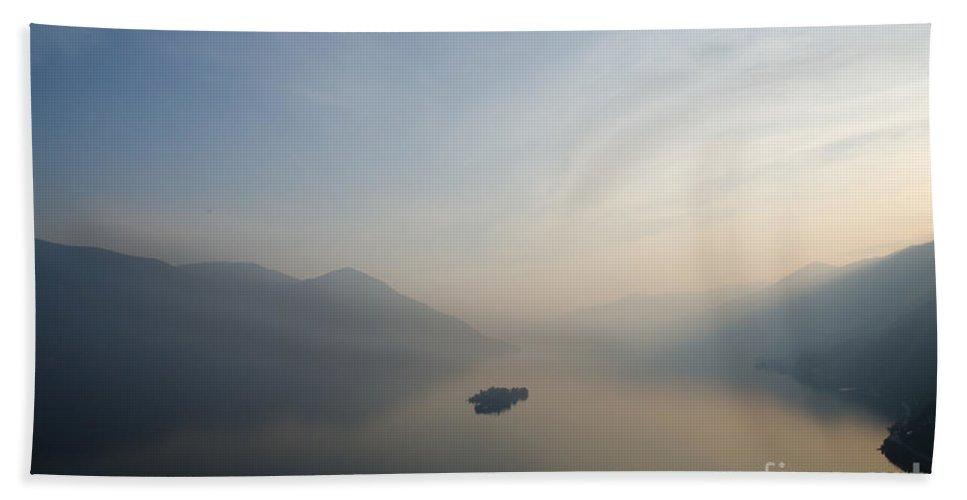 Islands Bath Sheet featuring the photograph Sunset Over Islands by Mats Silvan